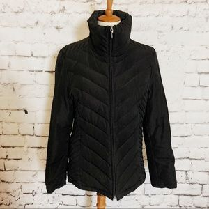 KENNETH COLE Black Down Feather Puffer Coat L